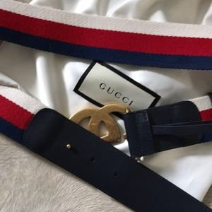 4b4319f76 Gucci Accessories | Authentic Nwt Sylvie Red Blue White Belt | Poshmark